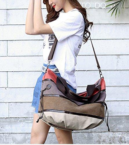 a2f6bae5ae119 ... DNFC Damen Handtasche Canvas Schultertasche Groß Henkeltasche Damen  Shopper Tasche Schöne Vintage Umhängetasche Tote Beuteltasche für