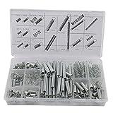tfxwerws 200Spring Sortiment Set Stahl Kompression Vergaser Erweiterung (Silber)
