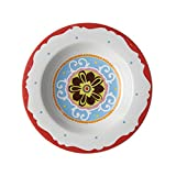Rose e Tulipani Nador Wall R1330002RO Soup Plate 23 cm (Set of 6)-Red