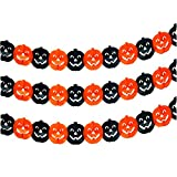 Set von 10 Black & Orange [Kürbis] Halloween Banner Bar/Partei-Dekorationen