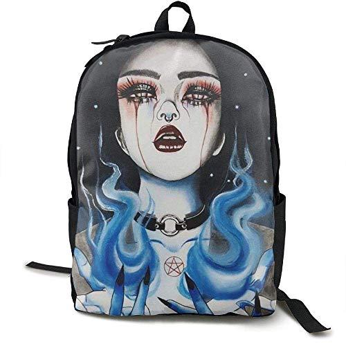 Laptop Rucksack Goth Gotik Gothic Frauen Mädchen Kunst Computer Tasche College Schule Rucksack...