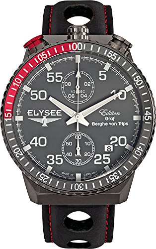 Elysee Mens Watch Graf Berghe von Trips Rally Timer I chronograph 80517MM
