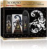 SCORPIO - Coffret 3 produits - Instinct Tribal - Eau de toilette flacon 75ml , Gel Douche 250ml &  Déodorant atomiseur 150ml