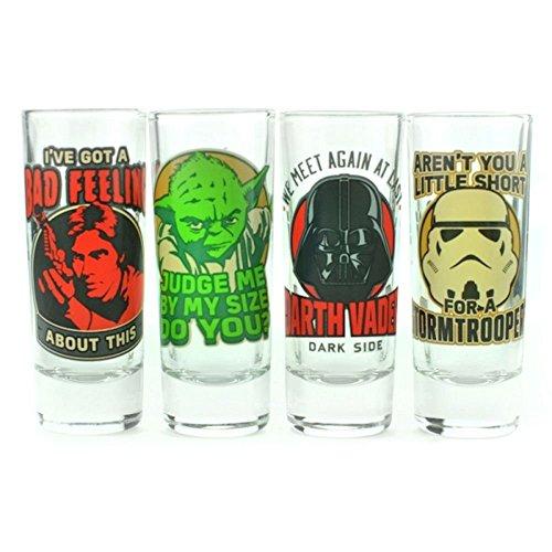 Star Wars, klassische Zitate Schnapsglas Set