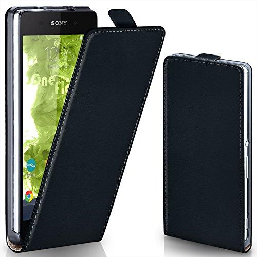 moex Sony Xperia Z2 | Hülle Schwarz 360° Klapp-Hülle Etui thin Handytasche Dünn Handyhülle für Sony Xperia Z2 Case Flip Cover Schutzhülle Kunst-Leder Tasche