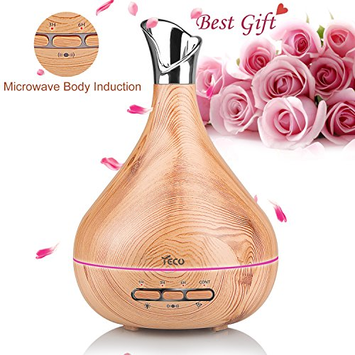 New Generation Essential Oil Diffuser, YECO Aroma Diffusers with Automatic Motion Induction for Home Office Baby - Elegant Vase Shape Design, Gifts for Women