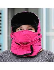 WXLQ Unisex Flap de Otoño de Invierno, Mantener el Sombrero Caliente, mientras Patinaje, Esquí o Otras Actividades al Aire Libre , rose red , good flexibility