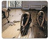 1art1 99568 Gustave Caillebotte - Die Parkettschleifer, 1875 Mauspad 23 x 19 cm