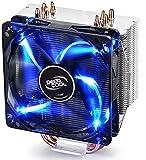 DEEPCOOL GAMMAXX 400 CPU-Kühler Prozessorlüfter für Intel und AMD AM4 READI, 4 Heatpipes, 1x 120mm PWM Lüfter, 4-Pin (PWM)