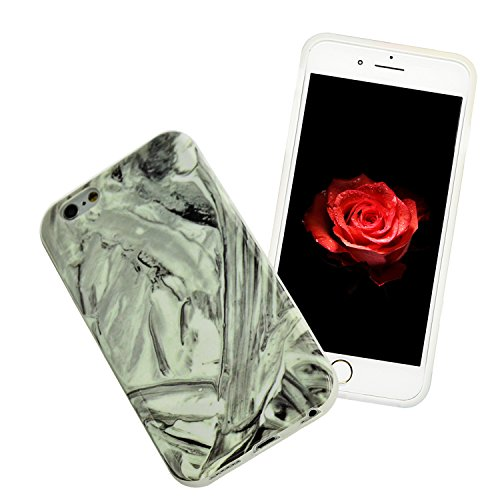 Coque pour iPhone 6s, Sunroyal® Coque Etui Housse iPhone 6 Motif Marbre TPU Silicone Doux Case Ultra Mince Souple Marble Effect Back Cover Couvrir Skin Portable de Protection Shock Absorption Bumper p Marbre 60