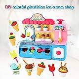 Samubo 3D Kinder Farbschlamm-Eisdiele Eismaschine Set Baby DIY-Spielzeug Kinderspielhaus Spielzeug Lernspielzeug Kindergeschenk Weihnachtengeschenk