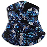 Schal Blue Diamonds Neck Gaiter Magic Stirnband Balaclava Hood Unisex Maske Bandana Winter Warm Headwear