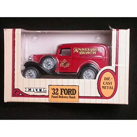 1932 Anheuser Busch Ford Panel Delivery Truck 1/25 Coin Bank by ERTL by ERTL - Ertl 1932 Ford Panel