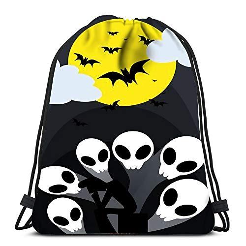 Rucksack mit Kordelzug für Sport, 6 Halloween, Ghost Rise Up von The Grave String Rucksack, große Aufbewahrungstaschen für Schule, Fitnessstudio
