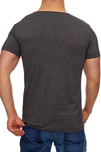 Tazzio Herren Rundkragen T-Shirt 17102 Anthrazit