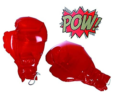 Boys Children Boy Child - Dress up time, Novelty Inflatable Blow Up Boxing Gloves - Number 1 Selling Christmas Xmas Top Up, Stocking Filler Gift Games & Toys Age 5+ - One Pair Supplied