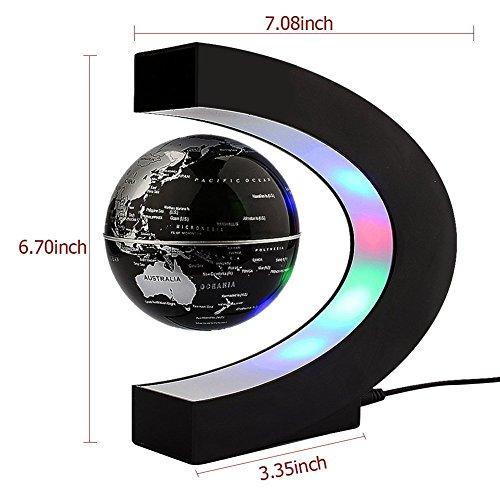 C levitazione magnetica LED Rotating Globe World Map sfera galleggiante Globe Decorazione Della Casa Regali Compleanno Imparare l'istruzione Insegnamento Ufficio - 4
