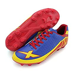 Vector X Red & Blue Football Shoes For Men