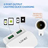 LDNIO USB Universal Car Charger With Lighter For IPhone 6 5 Cellphones Tablets Car Charger / Android