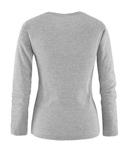 EZYshirt® Football Evolution Damen Longsleeve Grau/Blau/Rot