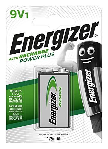 Piles 9V rechargeables EnergizerRecharge PowerPlus, pack de 1