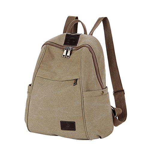 Unisex Rucksack Vintage Reiserucksack Canvas Schultasche Outdoor Freizeit Wanderrucksack Multifunktion Daypacks für Schule Camping Reisen