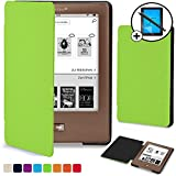 Forefront Cases® Tolino Page Shell Hülle Schutzhülle Tasche Bumper Folio Smart Case Cover Stand - Ultra Dünn und Leicht mit Rundum-Geräteschutz inkl. Eingabestift und Displayschutz (GRÜN)