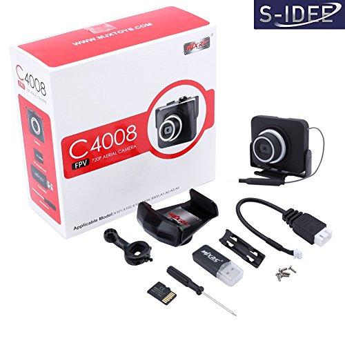 s-idee 01523 Wifi HD Kamera C4008 mit Tonaufzeichnung für Drohne MJX X101