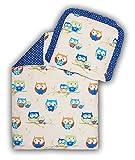 Amilian® Kinderwagenset Baby Bettwäsche Garnitur für Kinderwagen Kissen Decke Füllung