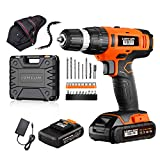 Lomvum 20V Cordless Impact Drill 8720T with 2 * 2.0Ah Li-Ion Batteries,2 Speed