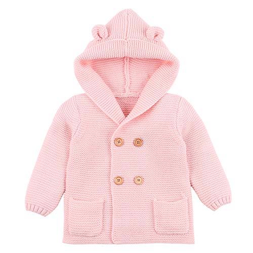 Bellelove❀ Kinder Kleinen Ohr Pullover Mantel, Kleinkind Baby Boy Mädchen einfarbig zweireihig Knopf Stricken oberen warme Kleidung
