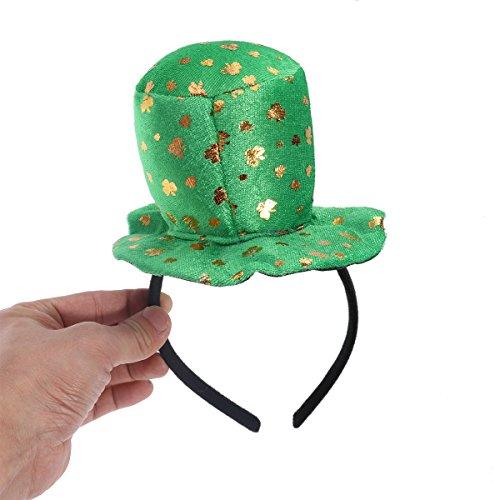 LUOEM St Patrick Tag Shamrock Kobold Top Hut Stirnband Kostüm Zubehör Grün