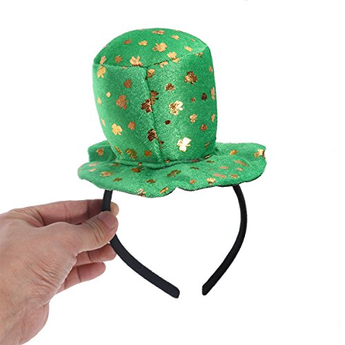 LUOEM St Patrick Tag Shamrock Kobold Top Hut Stirnband Kostüm Zubehör (St Pattys Tag Kostüm)