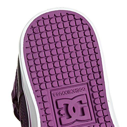 DC Shoes Spartan High Ev, Chaussures Premiers pas garçon Violet - Purple/White