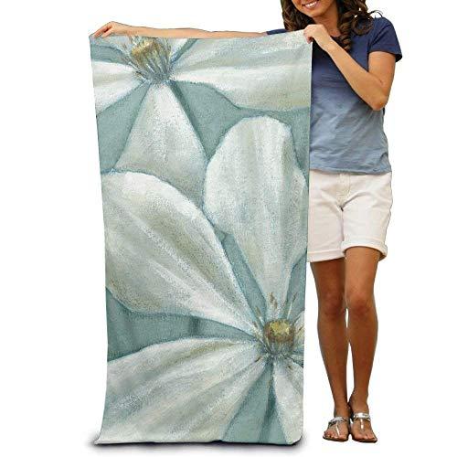 White flower oil der beste preis amazon in savemoney lilihome white flower oil painting custome 10polyester soft beach towel31 51 mightylinksfo
