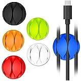 [6 Pack] Clips de Cable, Kollea multipropósito alambre cable de la cuerda del clip Organizador inteligente clips de cable para el dispositivo de Apple, smartphone y en la tabla