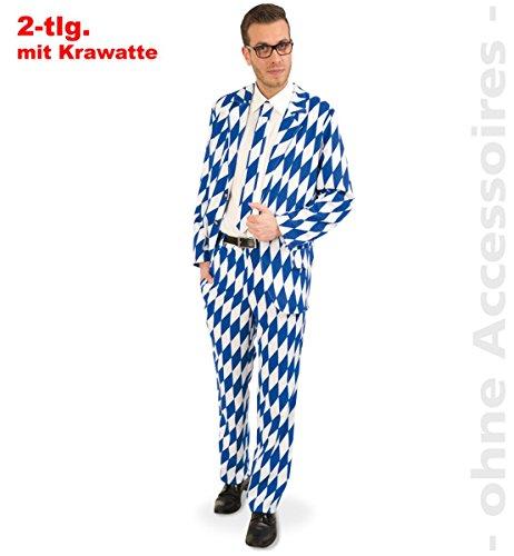 Unbekannt Herren Kostüm Bayern Anzug mit Krawatte Karneval Fasching 48/50