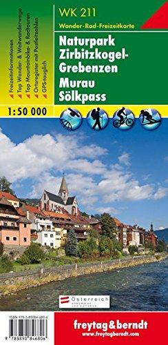 Carte de randonnée : Murau, Scheifling, Grebenzen, Sölkenpaß par Cartes Freytag
