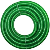 Technocrafts PVC Braided Water Hose For Plumbing 15 Meter (50 Feet, 1 Inch Or 25mm) - 3 Layered Hose Pipe