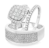 Silvernshine Jewels Unisex - Sterling-Silber 925 zirkonia