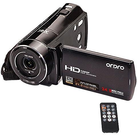 ORDRO HDV-V7 Full HD 1080 P 24 megapíxeles cámara digital de vídeo a un máximo de 16 x digital-Zoom con 3.0