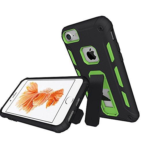"iPhone 7 Hülle, MSK® Schutzhülle iPhone 7 Handyhülle [Hybrid Hülle] Harte Schale Bumper Tasche Etui Case Für Apple iPhone 7 (4.7"") - Blau Grün"