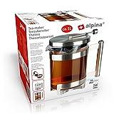 Alpina Teezubereiter Tee-Bereiter Teekanne Teesieb Filter Glaskanne Tee-Ei