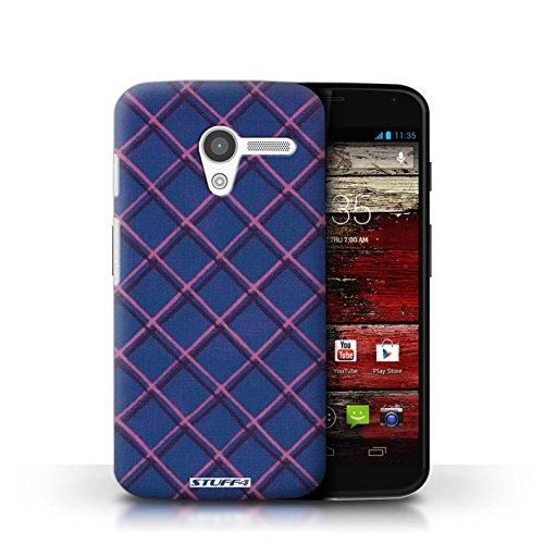 Kobalt® Imprimé Etui / Coque pour Motorola MOTO X / Violet/Noir conception / Série Motif Entrecroisé Bleu