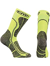 Northwave Husky Ceramic Tech High Socks, color verde,negro, talla EU 40-43