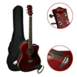 Tiger ACG4-RD Un Pack Guitare - Elektro-acoustique - Rouge