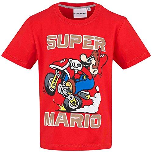 Unbekannt Super Mario Kollektion 2018 T-Shirt 104 110 116 122 128 134 140 Shirt Kurz Jungen (Rot, 122-128)