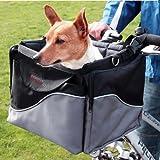 3 in 1 Hunde Fahrradkorb Fahrradtasche Hundefahrradkorb Transporttasche Hunde Fahrradbox inklusive Halterung