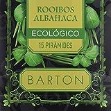 Barton Infusión Ecológica de Rooibos y Albahaca - 4 Paquetes de 77 gr - Total: 308 gr