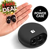 NOVA True Wireless Earbuds With Power Case 2 in 1 - In-Ear Mini Bluetooth Headphones With Microphone & Charger